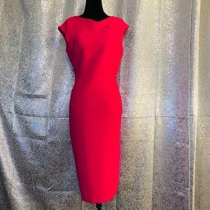 Jones New York Magenta Pink Midi Dress Size 6